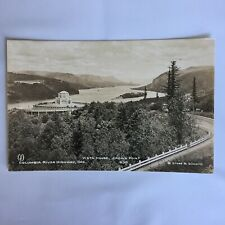 RPPC Real Photo Unposted Postcard Columbia River Vista House Crown Point Oregon