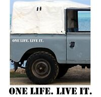 2 x ONE LIFE. LIVE IT.  Sticker Decal for Car Body / Bumper. Many Colour Choices