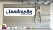 Lambretta Innocenti Workshop Garage Banner