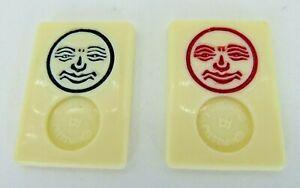 Original Rummikub 1998 Replacement Parts Pieces 2 Jokers Black & Red Pressman