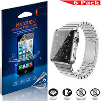 6X Nacodex Full Coverage Screen Protector Shield Saver Film For Apple Watch 38mm