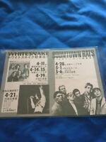 Whitesnake Japan tour 1980 promo flyer David coverdale Sweet Talker Come on