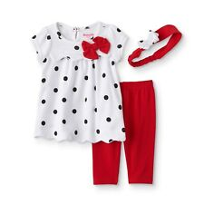Disney's Infant Girl's Dress, Leggings, and Headband Outfit Size 3-6 Months