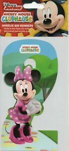 """WHEELIE BIN NUMBERS - """"2"""" - STICKER - MICKEY MOUSE CLUB HOUSE - MINNIE MOUSE"""