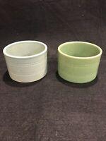 2Over And Back Yellow Ware Ramekins Crocks Bowls Serving Dish Custard Cup Set