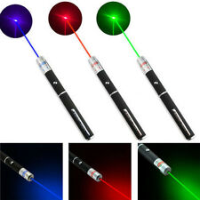 New 3Pcs 5MW Powerful Green Red Purple Beam Laser Pointer Pen LED Indicating