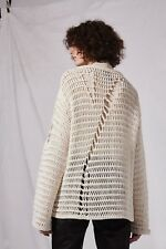 Topshop Boutique Distressed Knit Sweater Size US 6 UK 10 NWT
