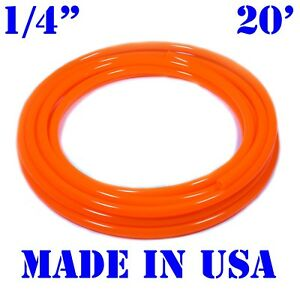 "20 feet 1/4""ID / 6mm Fuel Line Cycle ATV Gas Dirt Bike JetSki Hose Tube ORANGE"