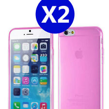Two x Pink iPhone 6Plus / 6s Plus TPU Gel Soft Jelly Case Phone Cover for Apple
