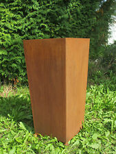 Gartendeko Pflanztopf Pflanzkübel Rost 80 cm auf 4 Eisenkugeln *+