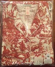 NWT Pottery Barn 2Pc ~RED ALPINE TOILE~ Flannel PAJAMA Set ~CHRISTMAS~ *LARGE*