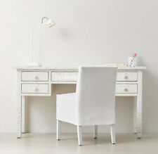Handmade Bone Inlay White Floral Desk Table Study Table