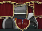 Volvo VNL VNM Curtains Full Set Red with golden tassels 7 pieces