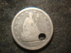 1875-CC  Holed Twenty Cents 20 Cent Coin  LAX