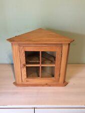 Petit meuble d'angle en bois bibliothèque étagères vitrine