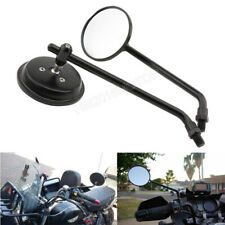 Motorcycle Black Classic Round Mirrors 10mm for Kawasaki Z1000 Z750 ER-6F ER-6N