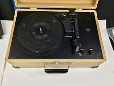 Crosley CR49-TW Record Player Traveler portable Turntable speaker- working well