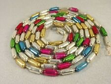 Tube Glass Bead Garland Multi Colors Christmas Feather Tree 100 inches long
