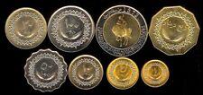 LIBYA 1-500 DIRHAMS 1979 8 PC. COIN SET UNC