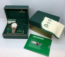 Rolex Datejust Tritium 16233 18k yg & Stainless Men's Watch with Box, Tags