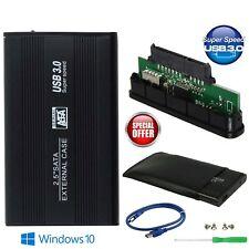 SATA Externes HDD 2.5 Zoll Schwarz Festplattengehäuse Gehäuse Caddy USB 3.0