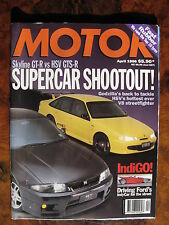 MOTOR MAGAZINE April 96 Skyline GTR v HSV GTS IndiGO By Ford