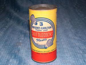 VINTAGE 1950S  REGENT CARLTON SHUTTLECOCKS UNOPENED CAN