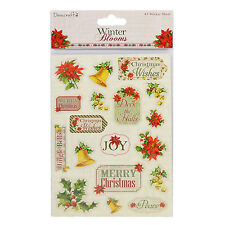 **BARGAIN**DOVECRAFT WINTER BLOOMS A5 STICKER EMBELLISHMENTS  FOR CARDS & CRAFTS
