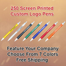 250 Custom Logo Retractable Ballpoint Pens
