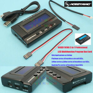 HOBBYWING 3 in 1 Professional LCD Multifunction Program Box Card for ESC Model