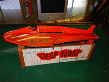 "Vintage ""DEEP FLOAT"" w' Stand Salesman Sample Hydroplane RC Boat Model Kit"