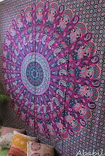 Queen Indian Handmade Mandala Bedspread Wall Hanging Hippie Wall Decor Tapestry