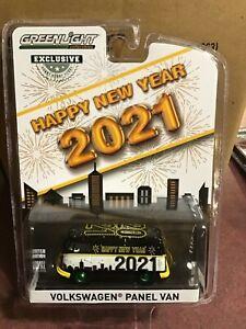 Greenlight Hobby Exclusive Volkswagen Van Happy New Year 2021 GREEN MACHINE