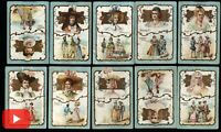 European Chocolate chromo trade cards c. 1900-5 era wonderful lot 35 Art Nouveau