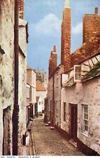 Cornwall - St. Ives, Back Lane - 1920's Photochrom Postcard