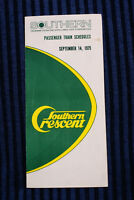 Southern Crescent - Timetable - Sept. 14, 1975