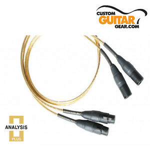 Analysis Plus Micro Golden Oval Interconnect Cable, SINGLE, 0.25 Meters, XLR-XLR