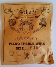 Schaff Roslau Piano Music Treble Wire Size 16 .037 1/3 Lb Coil 91' w Brake
