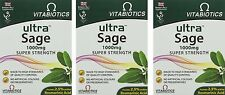 3x Vitabiotics ULTRA SAGE 1000mg  Super Strength 30 Tablets - Multibuy