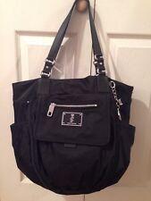 JUICY COUTURE MALIBU Black Nylon Baby Tote Bag Msrp $248.00