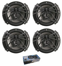 "Two Pair of SoundStream Arachnid 6.5"" 600W 4 Ohm 3 Way Coaxial Speakers AF.653"