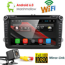 "8"" Android 6.0 VW Golf MT5 Car Radio Stereo DVD CD Sat-Nav GPS DAB+ DVR+Rear Cam"