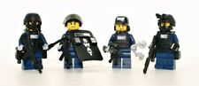 Swat Team Police Squad V2 Minifigures made with real LEGO(R) minifigure parts