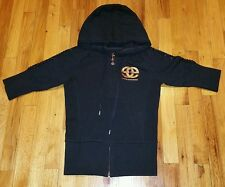 Red By Marc Ecko Black hooded Jacket Size S Designer Fashionable & Stylish Woman