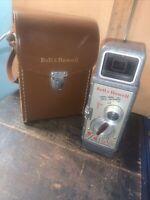 Vintage Bell & Howell Two Twenty 8mm Movie Film Camera + Case. Untested Unit!!