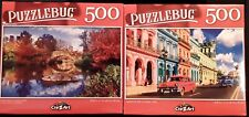 New Lot of 2 puzzlebug _ 500 piece jigsaw puzzles Central Park and car in Cuba