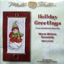 Mill Hill Cross Stitch Bead Stitching Band Kit 'Warm Wishes Snowlady' 12-6302