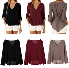 Blouse Chiffon Polo Neck Plus Size Tops & Shirts for Women