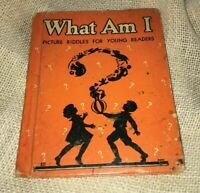 "Vintage 1925 Children's Riddle Book 50+ SILHOUETTE Illustrations ""What Am I"""