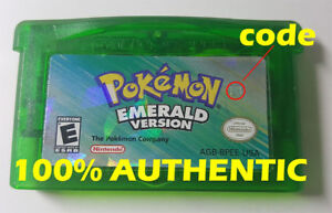 ORIGINAL AUTHENTIC Pokemon Emerald Version Can Save with New Battery GBA
